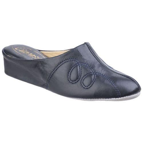 Cincasa Mahon Slipper Mule Ladies Slippers Navy
